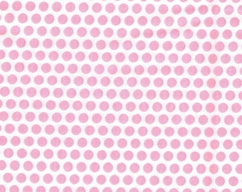 Pink Polka Dot Fabric, Fabric by the Yard, sewing fabric, quilt fabric