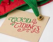 Good Tidings Screen Print Christmas Cards (Pack of 5)
