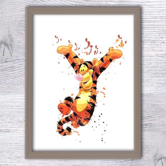 tigger winnie the pooh nursery art tigger poster disney. Black Bedroom Furniture Sets. Home Design Ideas