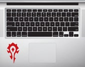 World Of Warcraft Horde Inspired Sticker WoW Inspired Laptop Sticker MacBook Decal Tablet Sticker Gift For WoW Fan