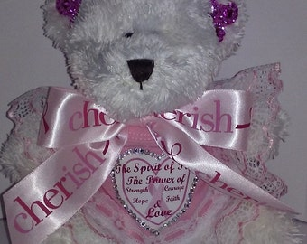 Breast Cancer Awareness 9 Inch Teddy Bear
