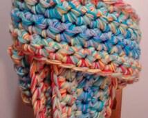 Pdf Extreme Crochet Spectrum Scarf Pattern - Easy, Beginner, No Weaving Ends!