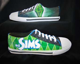 The Sims Plumbob Handpainted Shoes