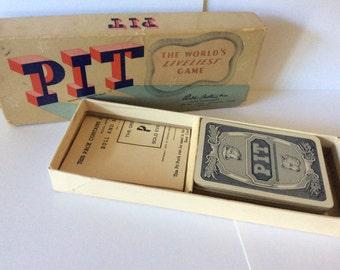 PIT Game, Vintage 1950's, Parker Bros., complete