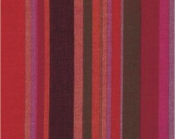 Kaffe Fassett for Rowan and Westminster Fabrics Woven Stripes Roman Stripes WROMANX Blood Orange  Half Yard cut and Yardages Available