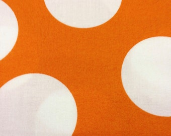 Half Moon Modern for Moda Half Yard Cut and Yardage Available White Circle on Tangerine Orange 32357 28