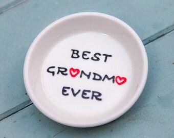 Personalized Grandmother Jewelry Dish - Ring Dish Grandma Gift