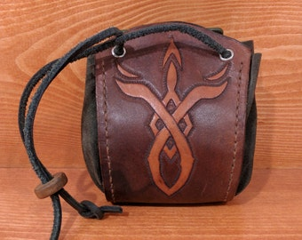 Leather Dice Bag, Superb Personalized Game Dice Pouch