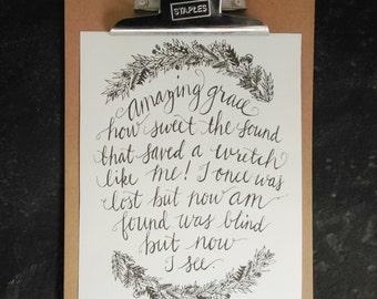 Amazing Grace Print, 8x10 printable, printable gifts for women,