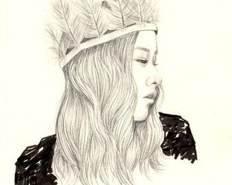 Desert Queen A4 Art Print