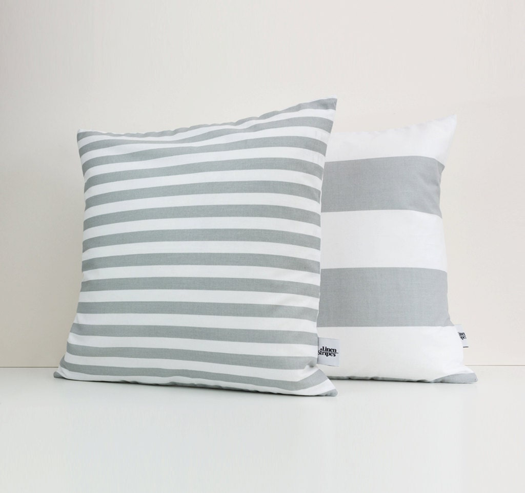grey cushions gray and white pillow grey striped pillow. Black Bedroom Furniture Sets. Home Design Ideas