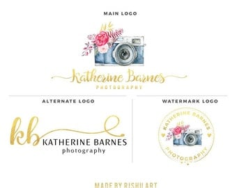 Premade Branding Kit - Photography Logo Set- Watermark - 62
