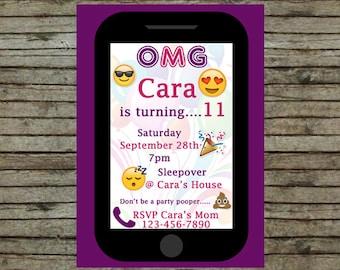 Cell Phone Birthday Party Invitation