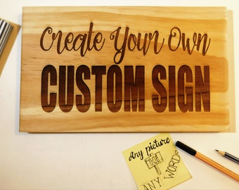 Custom sign, rustic wood sign. Personalized wedding gift, Bridal party signs