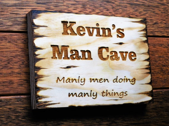 Wooden Man Cave Signs Australia : Items similar to man cave sign rustic reclaimed wood