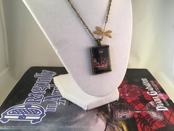 Outlander inspired Bronze Season 2 Poster Dragonfly Necklace