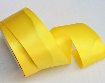 Yellow Double Faced satin Ribbon 2.25 inches wide - Yellow Satin Ribbon - Satin Ribbon yellow - Ribbon Satin