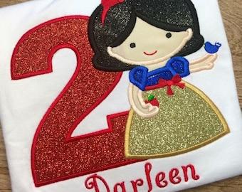 Girls Snow White Birthday Shirt