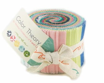 "Color Theory Junior Jelly Roll, Vanessa Christenson  V and Co Moda 10830JJR, 20 Strips, 2 1/2"" Wide"