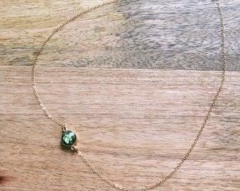 Labradorite Necklace - Gold Labradorite Necklace - Dainty Necklace - Minimalist Necklace - Gold Necklace - Gemstone Necklace