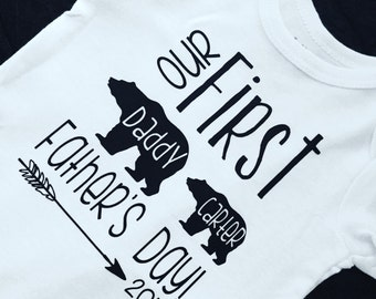 2018. First Father's Day. Baby boy. Baby girl. Baby bear. Daddy's boy. Baby shower. First Father's Day. Announcing Baby. Baby Announcement
