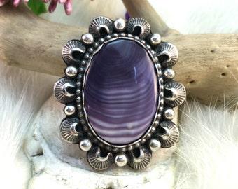 Wampum Statement Ring. Southwestern Bohemian Jewelry. Wampum Jewelry. MADE TO ORDER