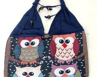Shopping bag - owl - 4947