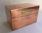 Classic Solid Copper Recipe Box