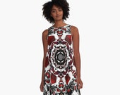 JEZEBEL   A-Line Dress XS S M L XL 2XL Woman Teen Wearable Art Clothing