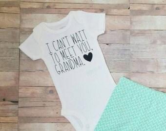 Baby announcement - pregnancy announcement - personalized baby reveal - custom pregnancy reveal - unique announcement - grandparent - aunt