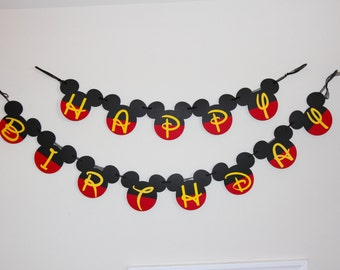 Mickey Mouse banner, Mickey birthday, mickey mouse birthday party, boys birthday party