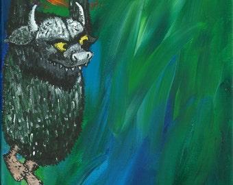 Where the Wild Things Are - Single Print: Horned Wild Thing. Kids Decor. Nursery Decor. Fun Prints.