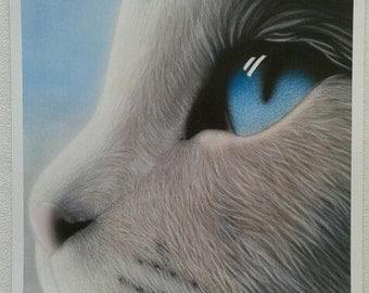 "Artwork Print 12"" x 12"" Close Up Cat Picture"