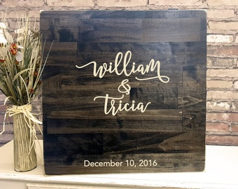 Wedding Guest Book, Guestbook Sign, Wedding Guest Book Alternative, Rustic Wedding Engraved Wood Sign, Wood Sign