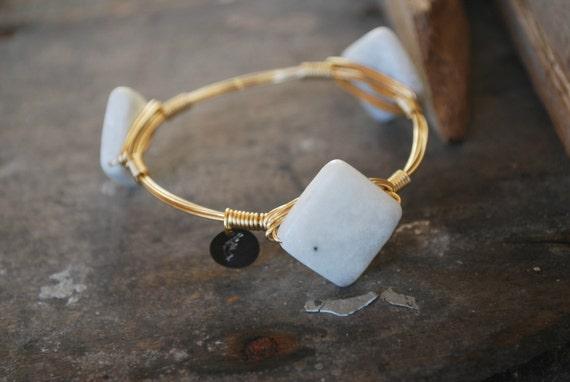 Aquamarine Bangle, Aqua bangle, Natural Stone Bangle, Unique Bangle, Bangle, Stackable Bangles, Bracelets, Accessories, Jewelry