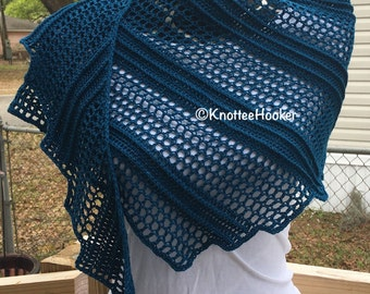 Cerulean Blue Shawl CLEARANCE SALE!! Save 25% off by using coupon code CLEARANCE0817