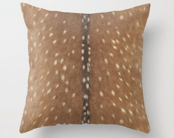 Luxe Axis Faux Deer Hide Pillow Cover