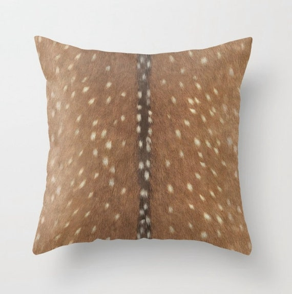 Faux Deerskin Pillow : Luxe Axis Faux Deer Hide Pillow Cover