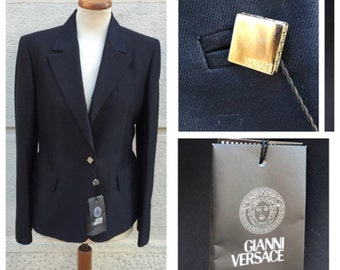 90s Gianni Versace Couture Wool Jacket - New with Tag Taglia M