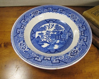 Homer Laughlin - Blue Willow - Shallow Bowl - Blue and White