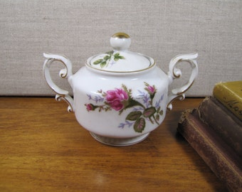 Small Moss Rose Covered Sugar Dish