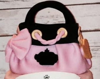 Juicy Couture Inspired Purse Cake Topper