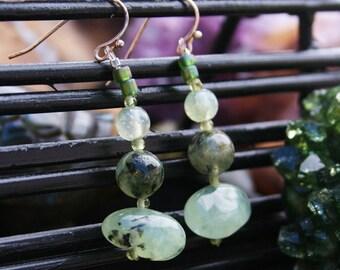 Moss Green Jade Earings