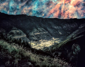 Heavens Above Telluride - Limited Edition Canvas Print - Telluride Colorado Collage