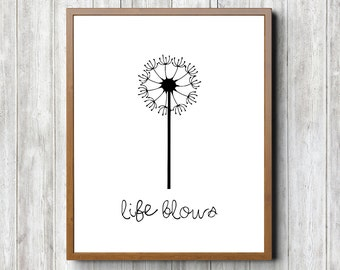 Life Blows 8 x 10 Printable