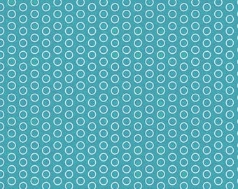 Teal Circles Fabric by Riley Blake