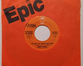 Meat Loaf Two Out Of Three Ain't Bad And For Crying Out Loud Vintage Vinyl 45 Record Album 1977