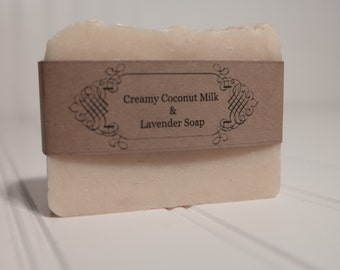 Creamy Coconut Milk & Lavender Hand Crafted Bar Soap