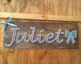 Cursive String Art Name Board . 6-7 Characters