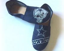 Dallas Cowboys Shoes, Women's Cowboys Slip Ons, NFL Shoes, Dallas Cowboys Fabric Shoes